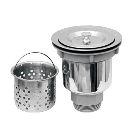 Whitehaus Stainless Steel 3.5-Inch Basket Strainer w/Deep Removable Basket