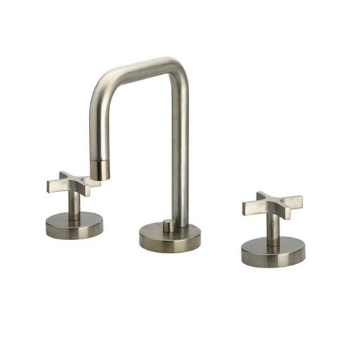 Whitehaus Metrohaus Polished Chrome Lavatory Widespread w/Swivel Spout and Pop-Up Waste w/Cross Handles