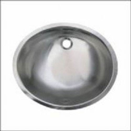 Polished Stainless Steel 18.5-Inch Smooth Oval Undermount Basin w/Overflow
