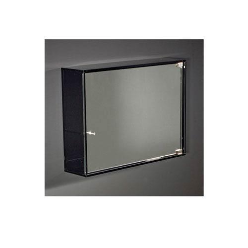 Whitehaus Aeri Transparent Glass 21.75-Inch Medicine Cabinet w/Two Shelves & Mirror Drawer