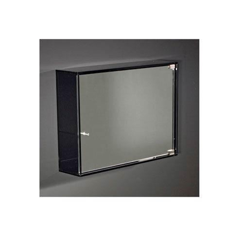Whitehaus Aeri Transpa Gl 15 75 Inch Wall Mount Storage Unit W Three Shelves Mirror Door