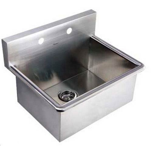 Noahs Brushed Stainless Steel 25-Inch Commercial Drop-In Laundry-Scrub Sink