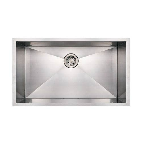 Whitehaus Noahs Brushed Stainless Steel 32-Inch Commercial Single Bowl Undermount Sink