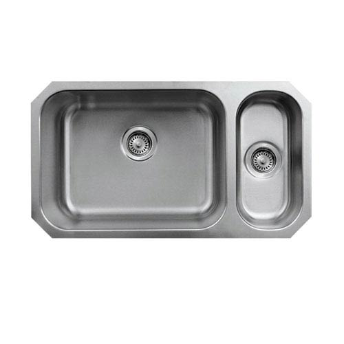 Noahs Brushed Stainless Steel 32.25-Inch Double Bowl Undermount Disposal Sink