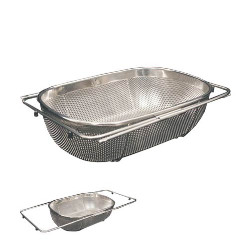 Whitehaus Stainless Steel 13.5-Inch Over The Sink Extendable Colander/Strainer