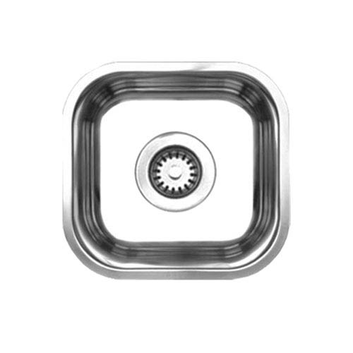 Noahs Brushed Stainless Steel 12.87-Inch Single Bowl Undermount Sink