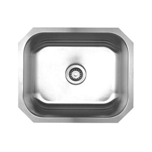 Noahs Brushed Stainless Steel 22.25-Inch Single Bowl Undermount Sink