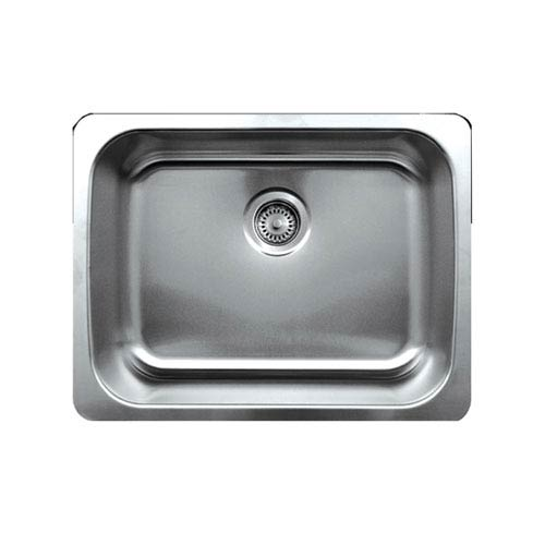 Noahs Brushed Stainless Steel 23.25-Inch Single Bowl Undermount Sink