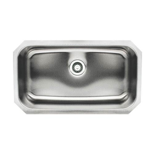Noahs Brushed Stainless Steel 30.5-Inch Single Bowl Undermount Sink