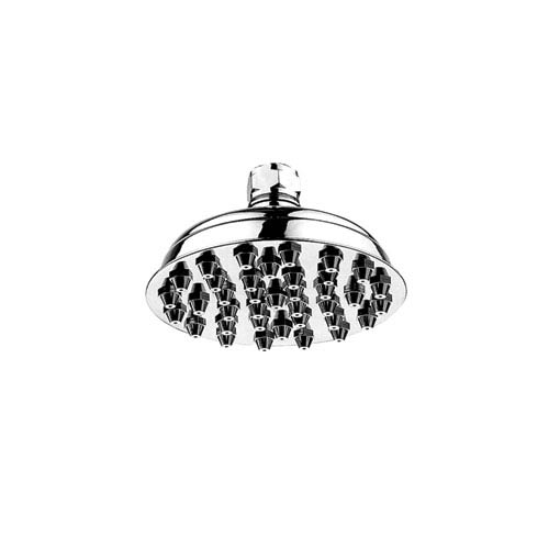 Showerhaus Polished Chrome 6-Inch Small Sunflower Rainfall Showerhead w/37 Nozzles - Solid Brass Construction w/Adjustable