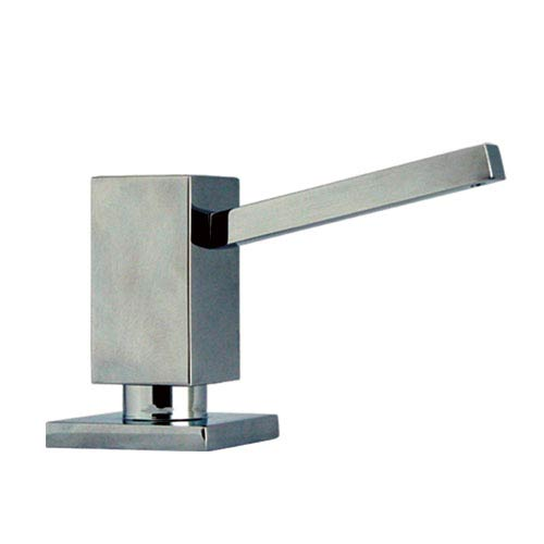 Q-Haus Polished Chrome 3.75-Inch Solid Brass Soap/Lotion Dispenser