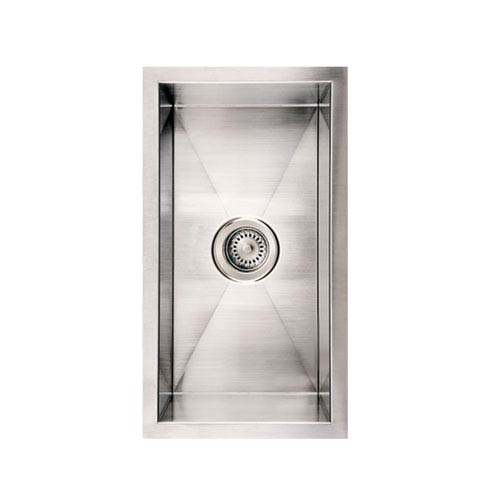 Whitehaus Noahs Brushed Stainless Steel 12-Inch Commercial Winehaus Single Bowl Undermount Sink