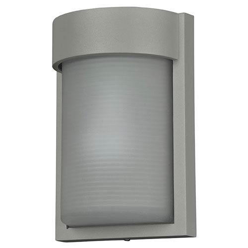 Access Lighting Destination Satin LED Outdoor Wall Sconce with Ribbed Frosted Glass Shade