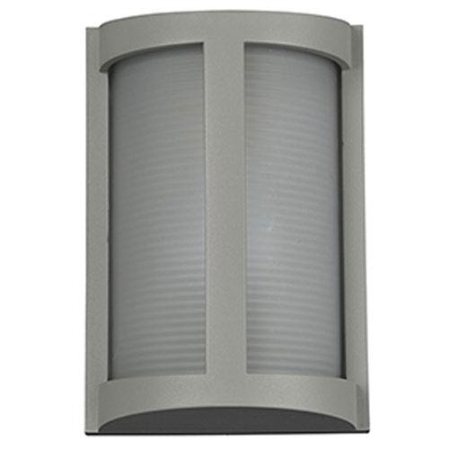 Access Lighting Pier Satin LED Outdoor Wall Sconce with Ribbed Frosted Glass Shade