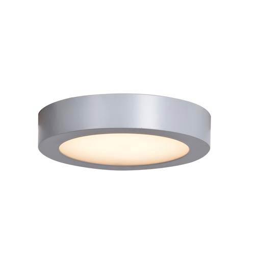Ulko Exterior Silver 6-Inch LED Outdoor Flush Mount