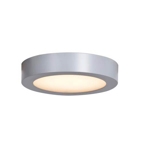 Ulko Exterior Silver 7-Inch LED Outdoor Flush Mount