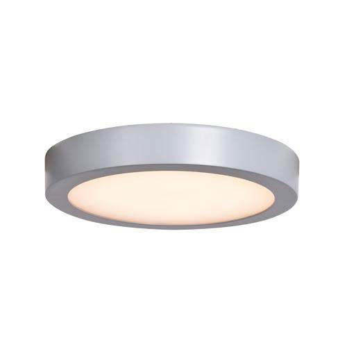 Ulko Exterior Silver 9-Inch LED Outdoor Flush Mount