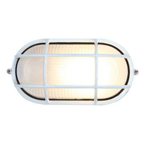 Nauticus White One-Light LED Outdoor Wall Sconce