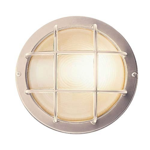 nautical wall sconce marine access lighting nautical satin silver small round sconce aluminum wall bellacor