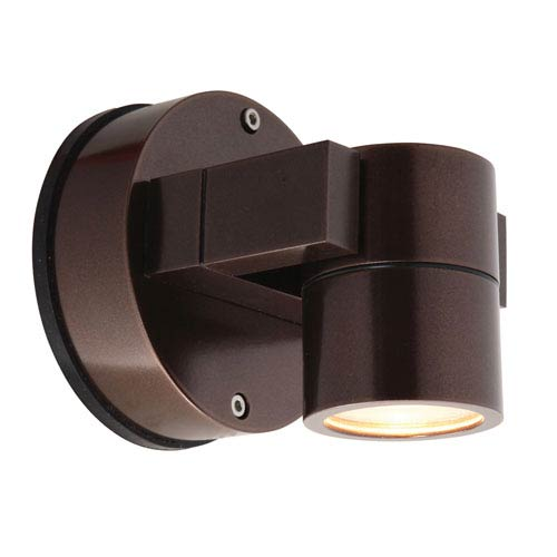 KO Bronze LED 5-Inch Outdoor Spotlight with Clear Glass