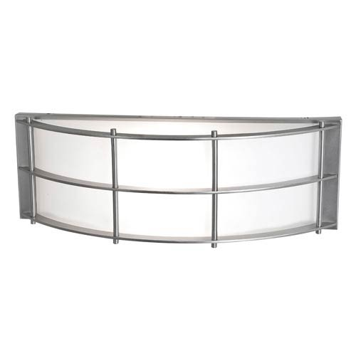 Access Lighting Tyro Satin Nickel One-Light Outdoor Wall Light with Opal Glass