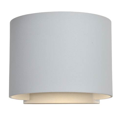 Curve LED White 2-Light Outdoor Wall Sconce