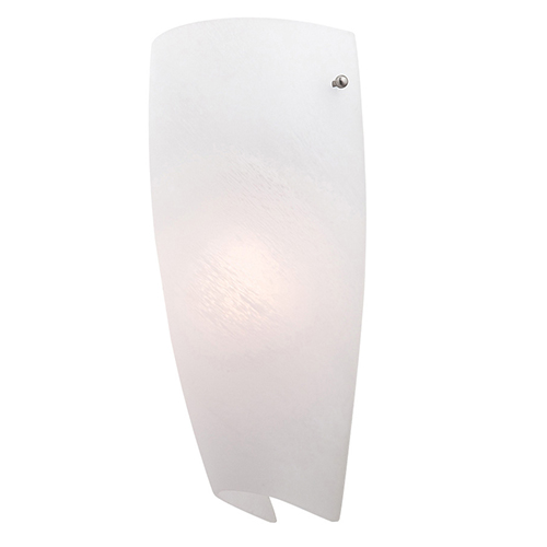 Access Lighting Daphne Brushed Steel 5.5-Inch Wide LED Wall Sconce with Alabaster Glass