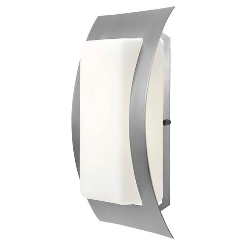 Access Lighting Eclipse Satin Nickel One-Light Outdoor Wall Light with Opal Glass