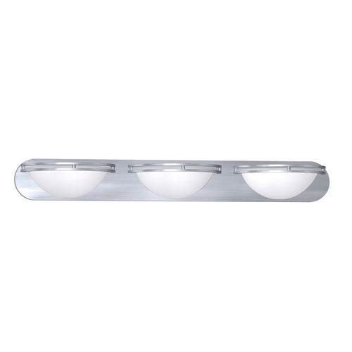 Access Lighting Aztec Brushed Steel Three-Light Wall and Vanity