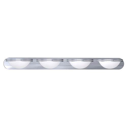 Aztec Brushed Steel Four-Light Wall and Vanity Light