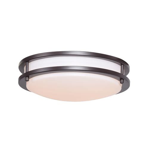 Access Lighting Solero Bronze 12-Inch One-Light Flush Mount