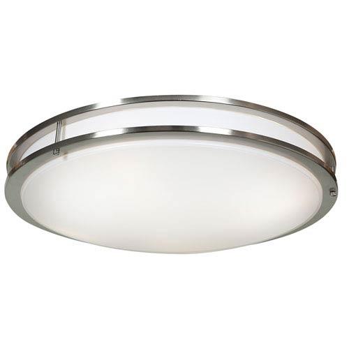 Solero Brushed Steel One-Light LED Flush Mount