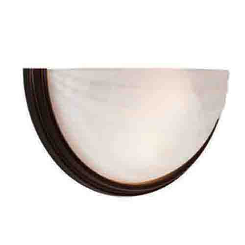 Crest Oil Rubbed Bronze 13-Inch Two-Light Wall Sconce with Alabaster Glass