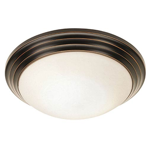Access Lighting Strata Oil Rubbed Bronze 10-Inch Flush Mount with Opal Glass