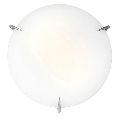 Zenon Brushed Steel 12-Inch Wide LED Flush Mount