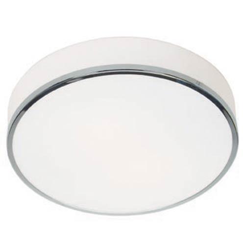 Aero Polished Chrome Two-Light Flush Mount with Opal Glass
