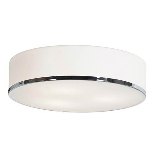 Access Lighting Aero Polished Chrome Three-Light Flush Mount with Opal Glass
