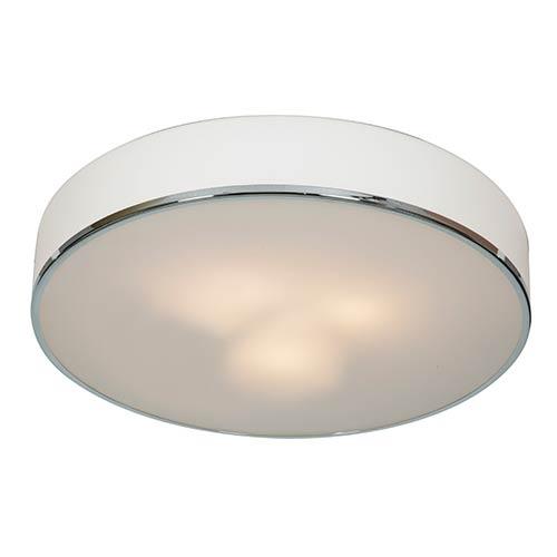 Access Lighting Aero Chrome Three-Light 19.5-Inch Wide Flush Mount
