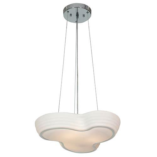 Access Lighting Pebble Chrome Three-Light 19.5-Inch Wide Bowl Pendant