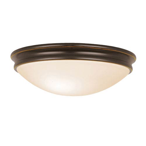 Atom Oil Rubbed Bronze One-Light LED Flush Mount