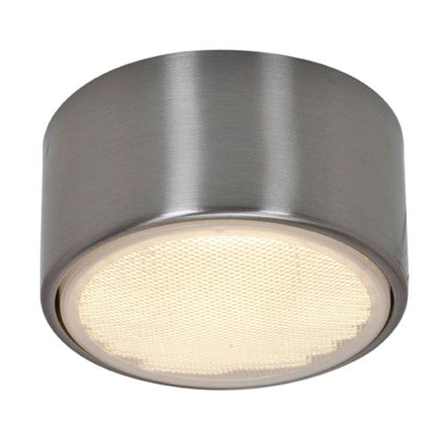Ares Brushed Steel One-Light Flush or Wall Mount