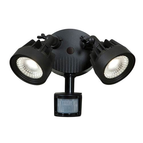 Stealth Black Two-Light 11.5-Inch LED Outdoor Spotlight