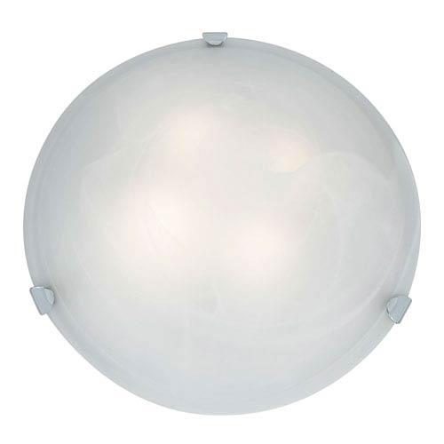Mona Chrome Four-Light 20-Inch Flush Mount with Alabaster Glass