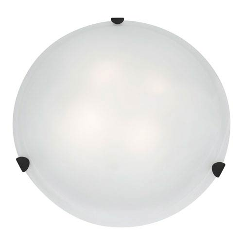 Mona Rust Fluorescent Three-Light 20-Inch Flush Mount with White Glass