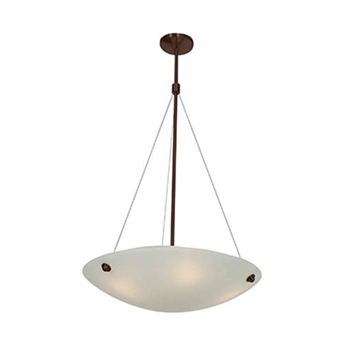 Access Lighting Noya Bronze Four-Light 24-Inch Pendant with White Glass