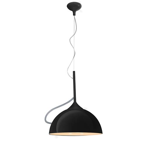 Access Lighting Magneto Black One-Light 14-Inch Wide Adjustable Dome Pendant