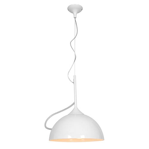 Magneto White One-Light 14-Inch Wide Adjustable Dome Pendant