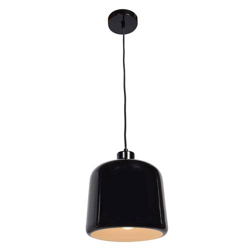 Access Lighting Nostalgia Shiny Black 10-Inch One-Light Mini Pendant