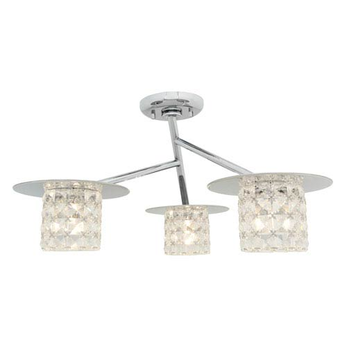 Access Lighting Prizm Chrome Three-Light Semi-Flush