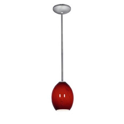 Access Lighting Sydney Ostrich Brushed Steel Firebird Gl Pendant